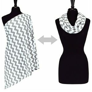 Other - Grey and white chevron nursing cover NEW